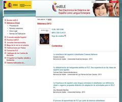 Biblioteca Virtual (RedELE) 2013