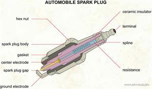 Automobile spark plug  (Visual Dictionary)