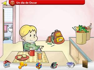 Un día de Óscar, ejercicio interactivo sobre conceptos asociativos