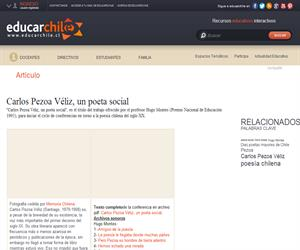 Carlos Pezoa Véliz, un poeta social (Educarchile)