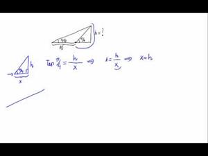 Problema de trigonometría - Tangentes