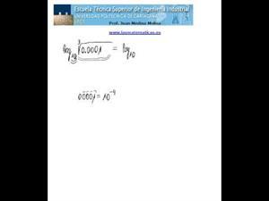 Cálculo de un logaritmo decimal