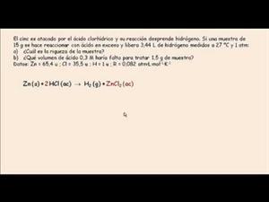 Problema de estequiometría: Reacciones químicas. Cibermatex