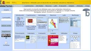 DidacTerion, creación de recursos educativos interactivos de latín y griego