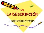 La descripción. Estructura y tipos