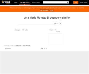 Ana María Matute: El duende y el niño (Audiocuento)