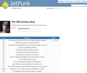 The 18th Century Quiz