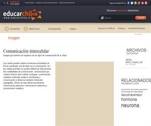 Comunicación intercelular (Educarchile)