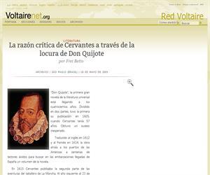 La razón crítica de Cervantes a través de la locura de Don Quijote por Frei Betto
