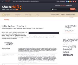 Habla América. Ecuador 1 (Educarchile)