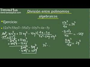 División entre polinomios algebraicos. Problema 14 de 15 (Tareas Plus)