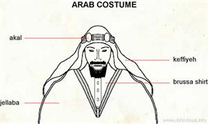 Arab costume  (Visual Dictionary)