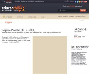 Augusto Pinochet (1915 - ) (Educarchile)