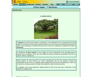 El Reino Vegetal: unidad de Biología de 1º de Bachillerato (proyecto Biosfera)