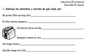 Adverbios (fichas para imprimir)