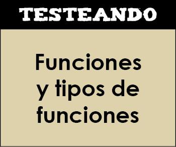 Funciones y tipos de funciones. 4º ESO - Matemáticas (Testeando)
