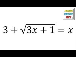 Solución de una ecuación con raíz cuadrada (JulioProfe)