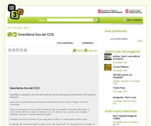 SonarMàtica fora del CCCB (Edu3.cat)