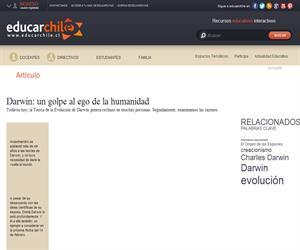 Darwin: un golpe al ego de la humanidad (Educarchile)