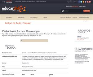 Carlos Rozas Larraín. Barco negro (Educarchile)