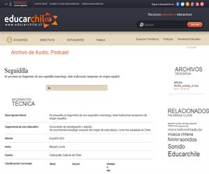 Seguidilla (Educarchile)