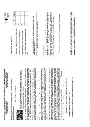 Examen de Selectividad: Alemán. Navarra. Convocatoria Junio 2013