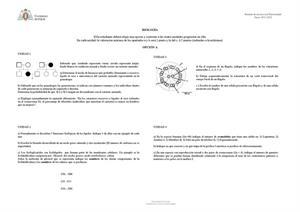 Examen de Selectividad: Biología. Asturias. Convocatoria Junio 2013