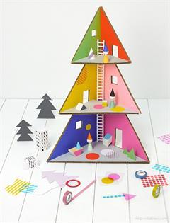 Christmas Tree Doll House. Casa árbol de Navidad  - Mr Printables