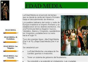 Etapas históricas. Edad Media