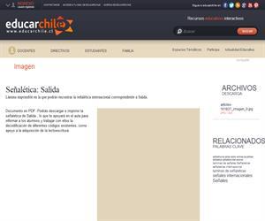 Señalética Salida (Educarchile)