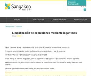 Simplificación de expresiones mediante logaritmos
