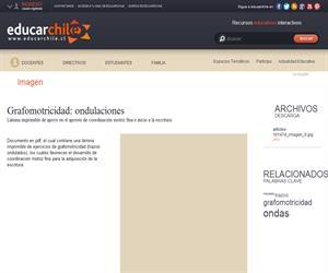 Grafomotricidad: ondulaciones (Educarchile)