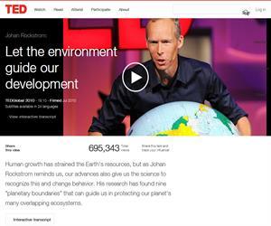 Let the environment guide our development, conferencia sobre el desarrollo sostenible