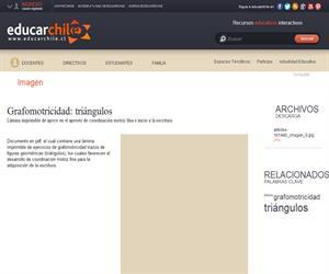 Grafomotricidad: triángulos (Educarchile)