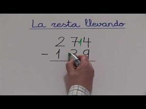 Restas llevando de números de 3 cifras
