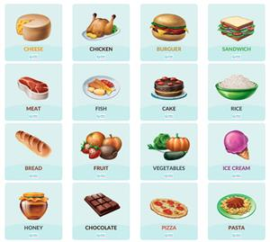 Food words. Alimentos en inglés (Smile And Learn)