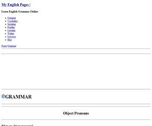 Object Pronouns - Pronombres Personales Objetivos (myenglishpages)
