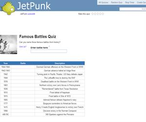 Famous Battles Quiz