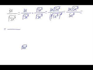 Racionalización (Sin sumas o restas de raíces en denom.)