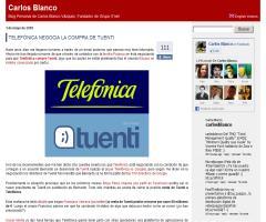 Telefónica negocia la compra de Tuenti, según Carlos Blanco (carlosblanco.com)