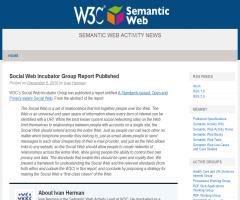 Informe del grupo Social Web Incubator - W3C
