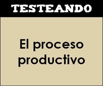 El proceso productivo. 2º Bachillerato - Economía de la empresa (Testeando)