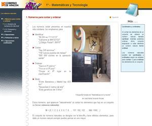 Los números naturales (1º ESO). Educación Secundaria para Personas Adultas (CATEDU)