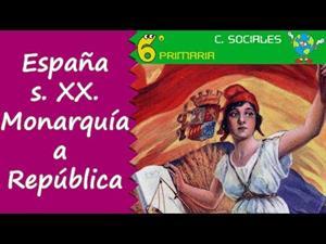 España en el S. XX. De la monarquía a la república