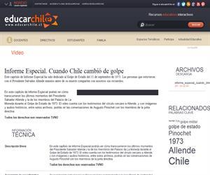 Informe Especial. Cuando Chile cambió de golpe (Educarchile)