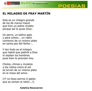 El milagro de Fray Martín - Catalina Recavarren (PerúEduca)