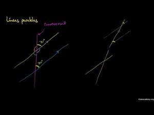 Ángulos formados por líneas transversales y paralelas (Khan Academy Español)