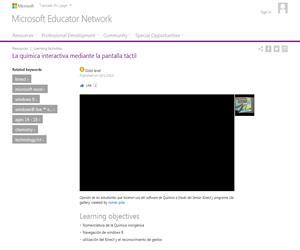 La química interactiva mediante la pantalla táctil