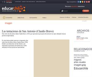 Las tentaciones de San Antonio (Claudio Bravo) (Educarchile)