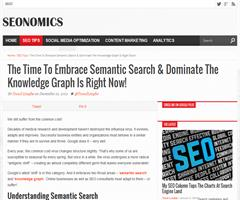 The Time To Embrace Semantic Search & Dominate The Knowledge Graph Is Right Now!